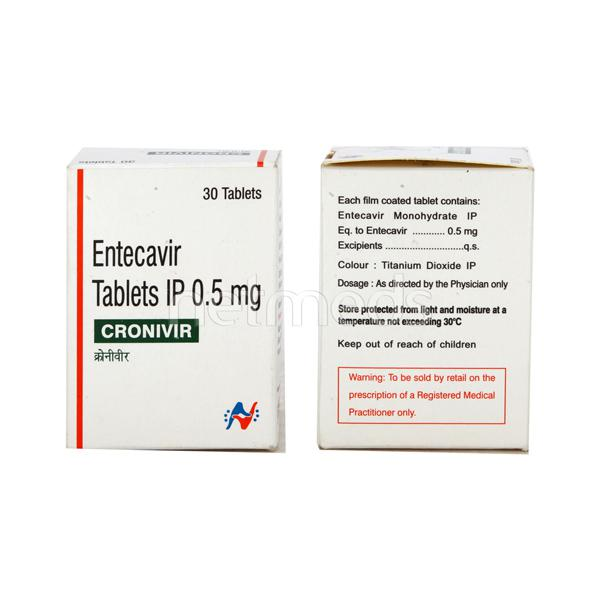 Cronivir 0.5mg Tablet 30'S