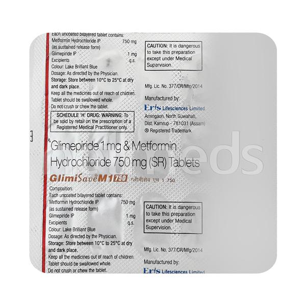 Glimisave M1 750mg Tablet 15'S