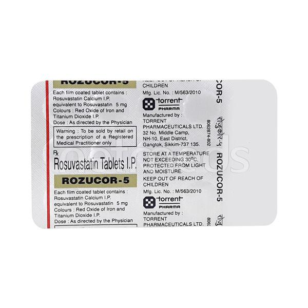 Rozucor 5mg Tablet 15'S