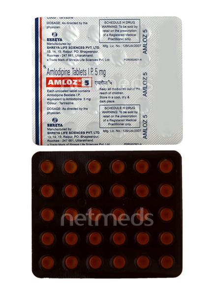 Amloz 5mg Tablet 30'S