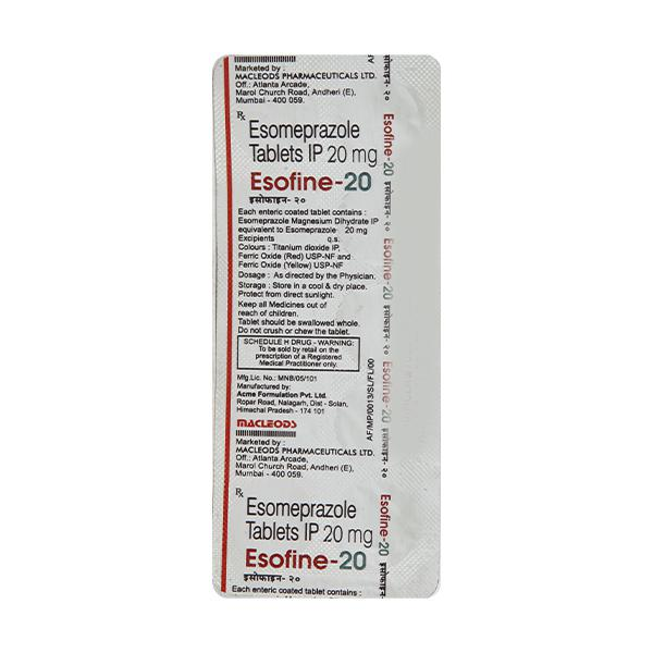 Esofine 20mg Tablet 10'S