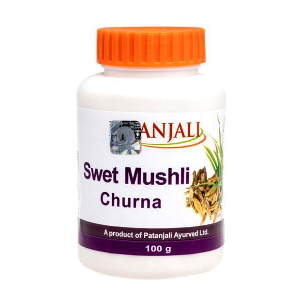 Patanjali Swet Mushli Churna Powder 100 gm