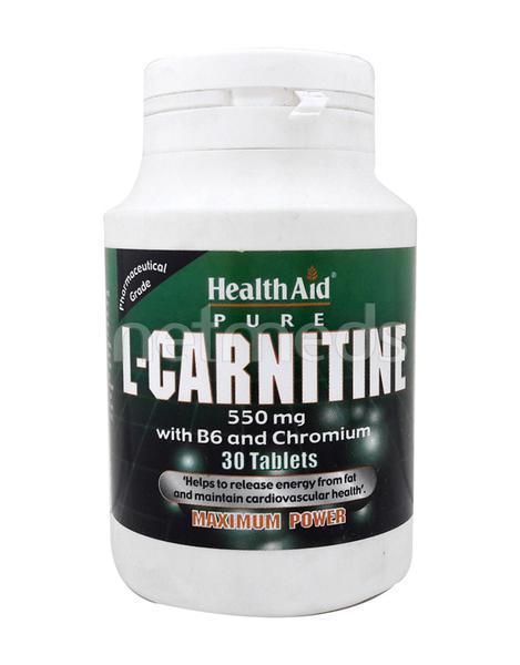HealthAid L Carnitine 550 mg with Vitamin B6 & Chromium Tablet 30's