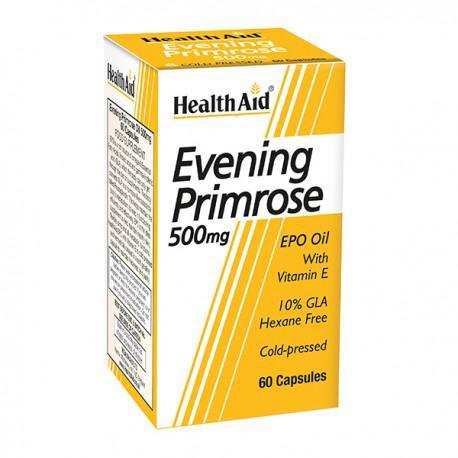 HealthAid Evening Primrose Oil 500 mg with Vitamin E Capsules 60's