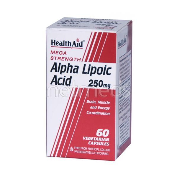 HealthAid Alpha Lipoic Acid 250 mg Capsule 60's