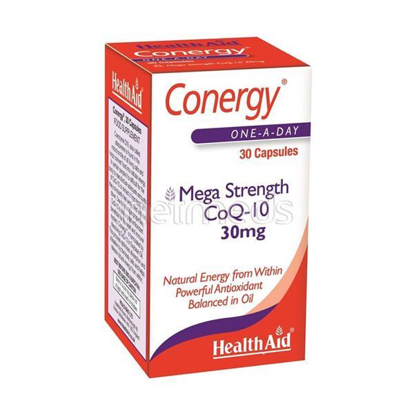 HealthAid Conergy Mega Strength Coq 10 30 mg Capsule 30's
