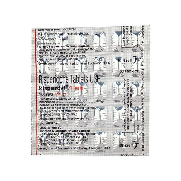 Risperdal 1mg Tablet 30'S