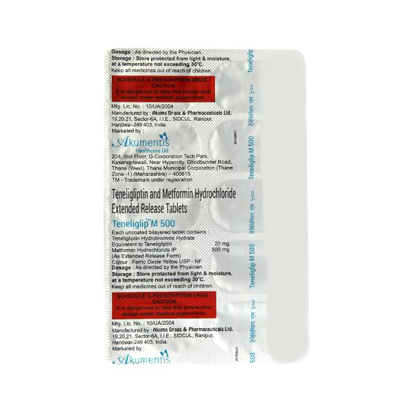 Teneliglip M 20/500mg Tablet 10'S