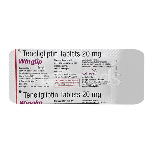 Winglip 20mg Tablet 10'S