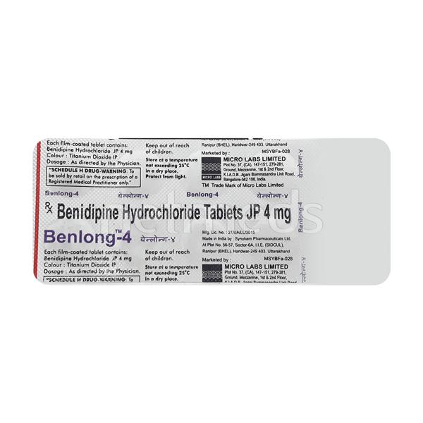 Benlong 4mg Tablet 10'S