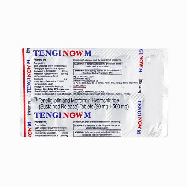 Tenginow M 500/20mg Tablet 10'S
