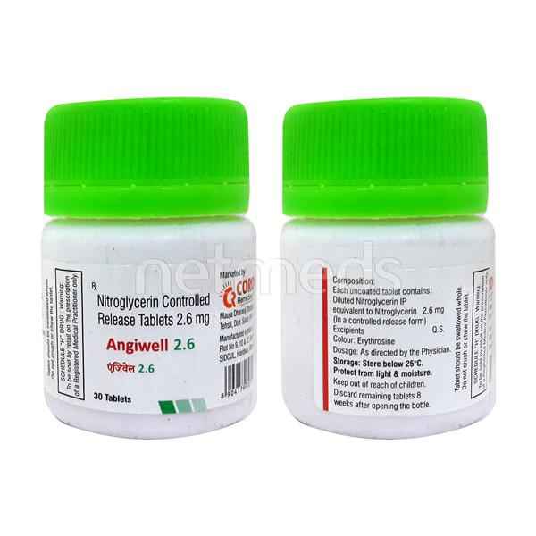 Angiwell 2.6mg Tablet 30'S