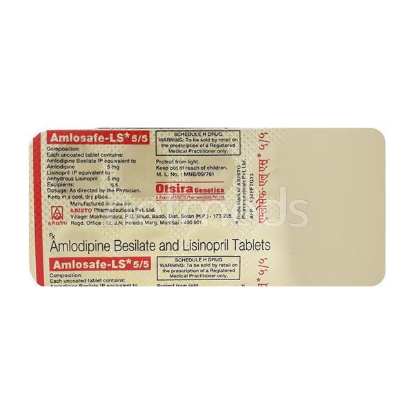 Amlosafe LS 5/5mg Tablet 10'S