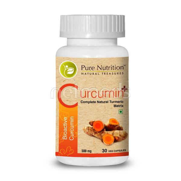 Pure Nutrition Curcumin+ 500 mg Veg Capsule 30's
