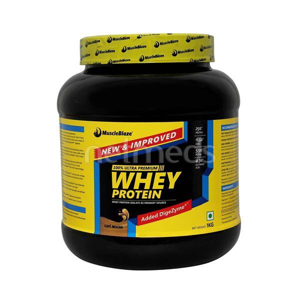 MuscleBlaze Whey Protein - Cafe Mocha 1 kg