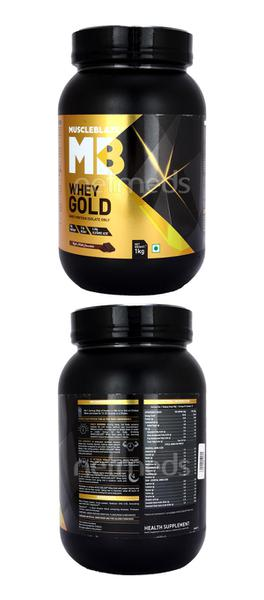 MuscleBlaze Whey Gold - Rich Milk Chocolate 1 kg