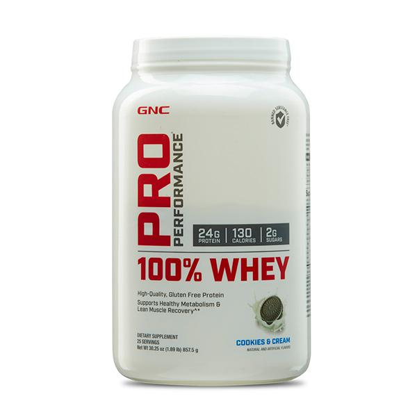 GNC PP 100% Whey Protein Powder - Cookies N Cream 2 lb