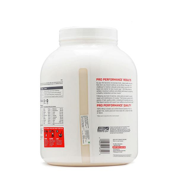 GNC PP 100% Whey Protein Powder - Strawberry 4.76 lb