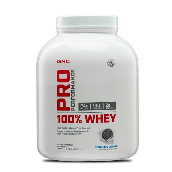 GNC PP 100% Whey Protein Powder - Cookies N Cream 4.84 lb