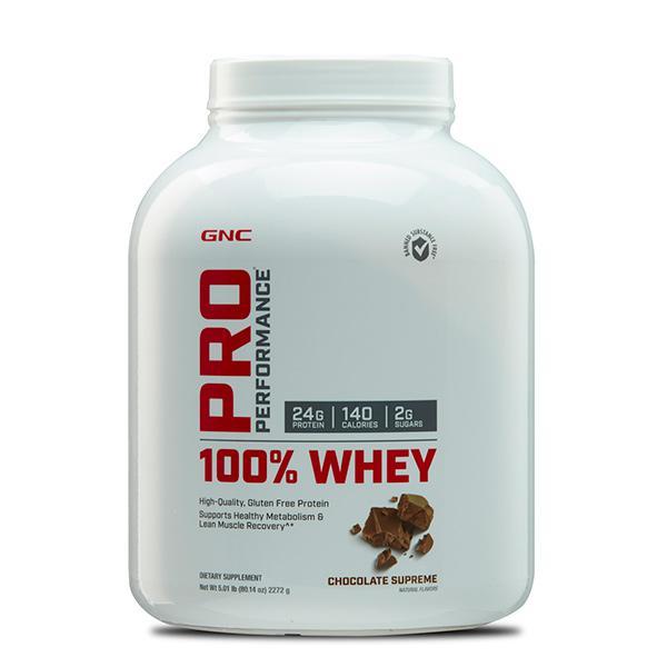 GNC PP 100% Whey Protein Powder - Chocolate 5 lb (N)