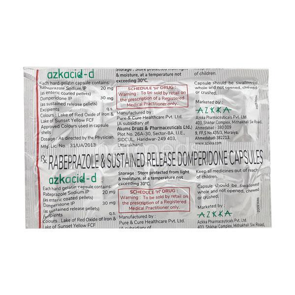 Azkacid D Capsule 10'S