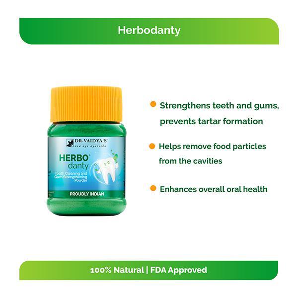 Dr.Vaidya's Herbodanty Powder (Pack of 2 x 50 gm)