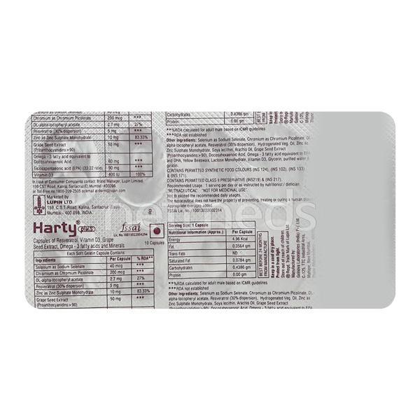 Harty Plus Capsule 10'S