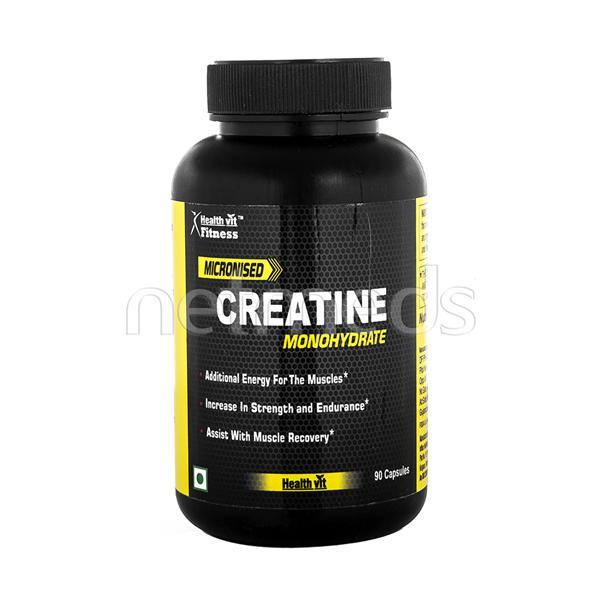 Healthvit Fitness Micronised Creatine Monohydrate Capsules 90'S