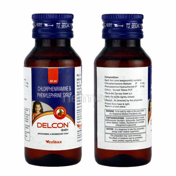 Delcon 2/5mg Syrup 60ml