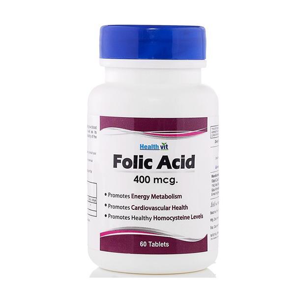 HealthVit Folic Acid 400 mcg Tablets 60's