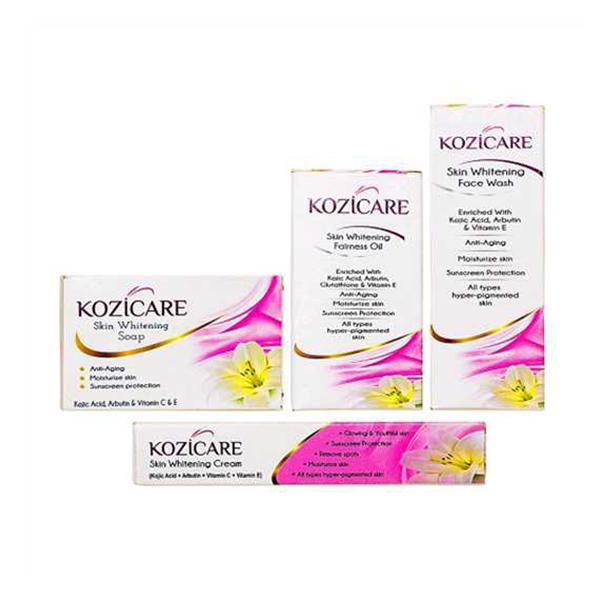 Kozicare 21 Day Skin Whitening Kit (Facewash + Soap + Cream + Oil) 500 gm