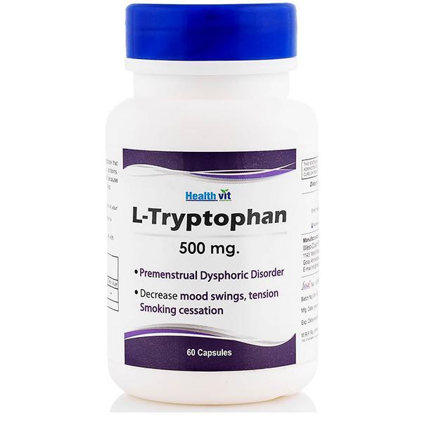 HealthVit L- Tryptophan 500 mg Capsules 60's