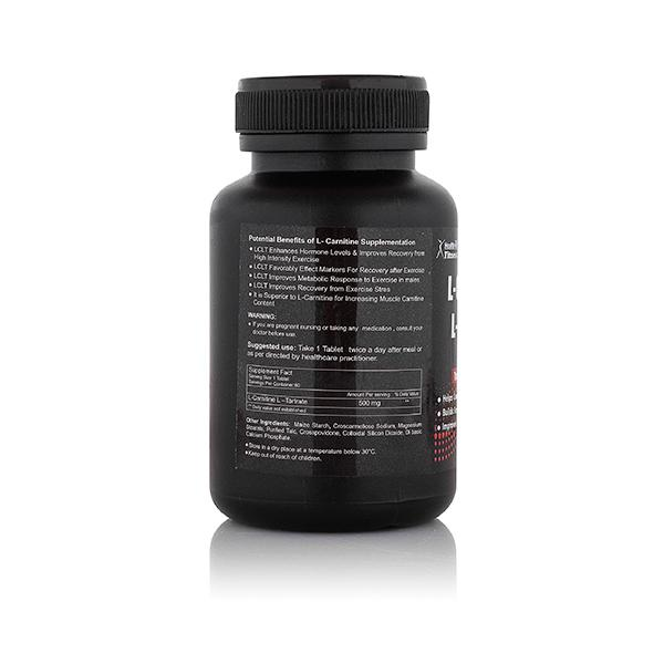 HealthVit L-Carnitine L-Tartrate 500 mg Tablet 60's
