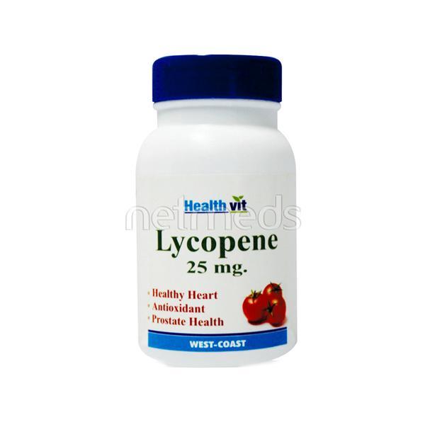 HealthVit Lycopene 25 mg for Healthy Heart Tablet 60's