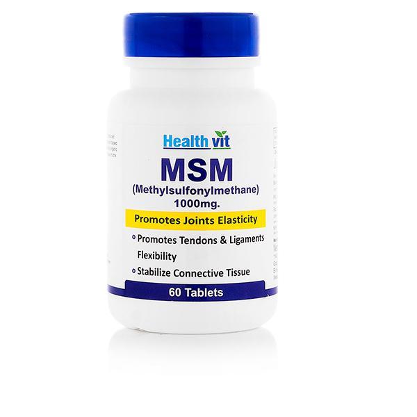 HealthVit Msm (Methylsulfonylmenthane) 1000 mg Tablet 60's