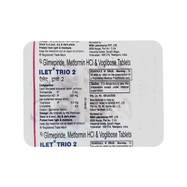 Ilet Trio 2mg Tablet 10'S
