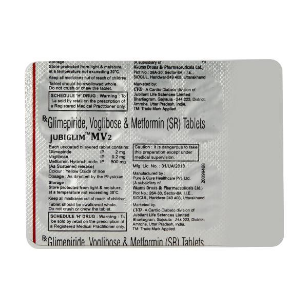 Jubiglim MV 2 Tablet 10'S