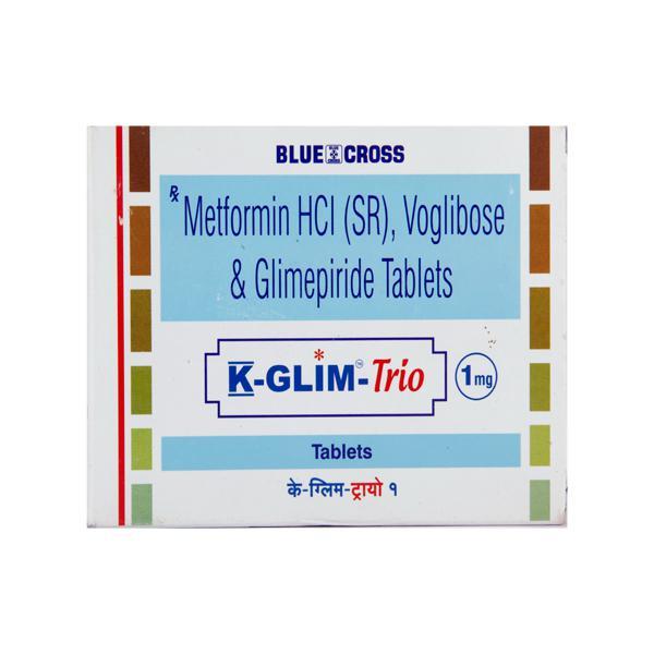 K Glim Trio 1mg Tablet 10'S