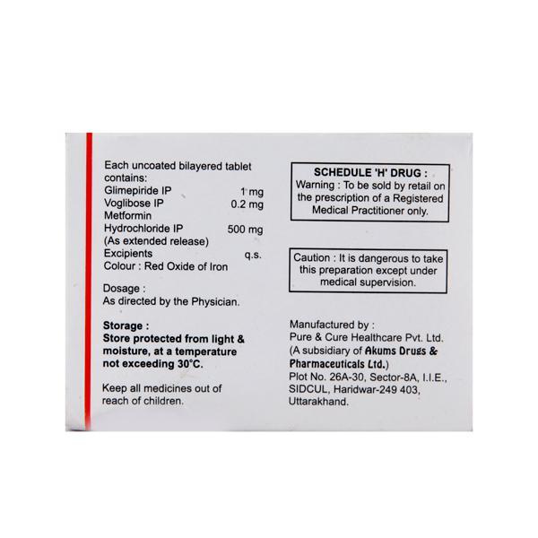 Laformin GV 1/500/0.2mg Tablet 10'S