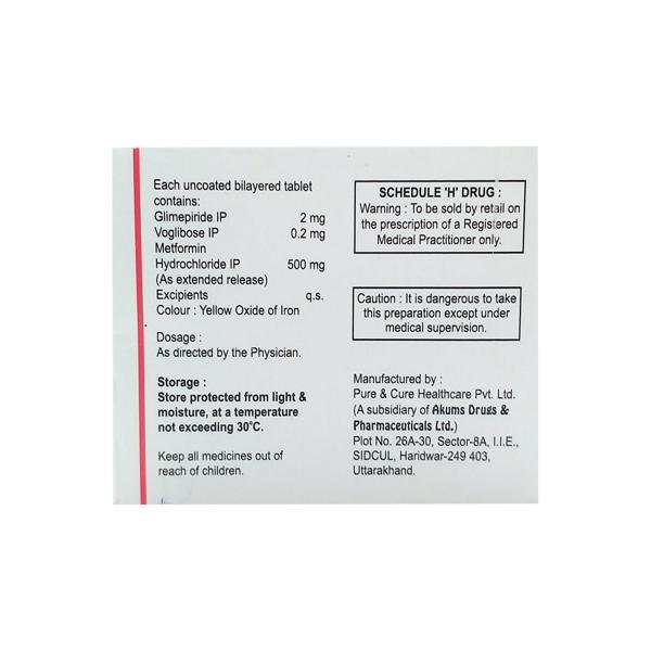 Laformin GV 2/500/0.2mg Tablet 10'S