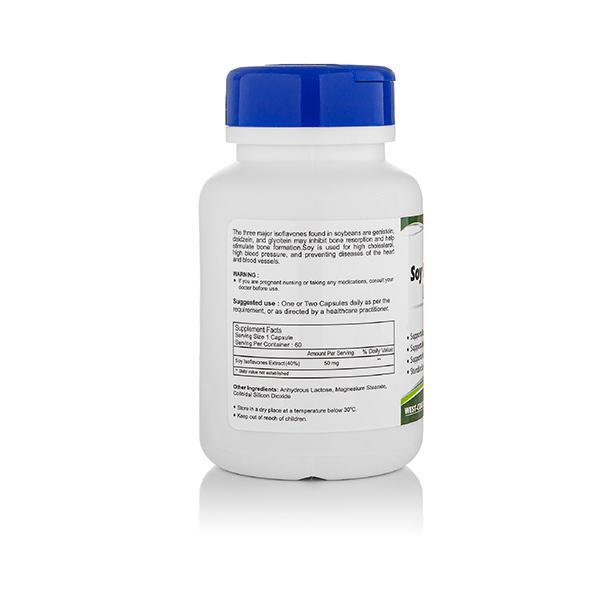 HealthVit Soy Isoflavones Extract 50 mg Capsules 60's