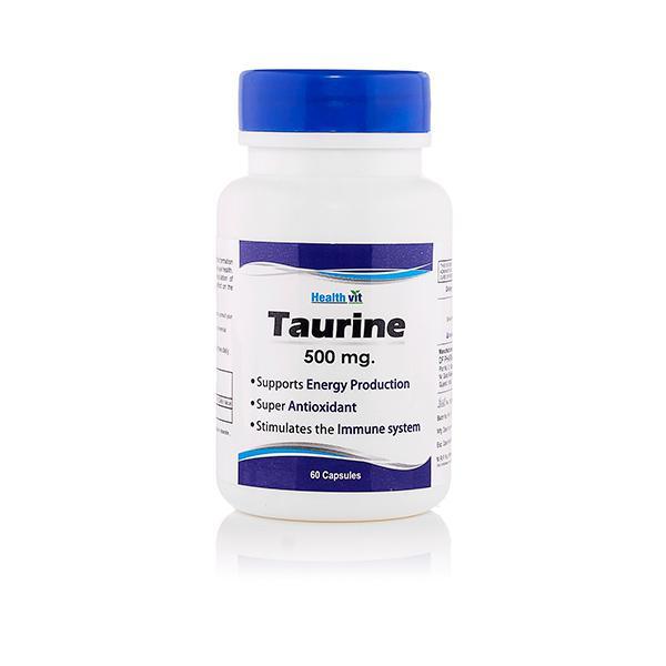 HealthVit Taurine 500 mg Capsules 60's