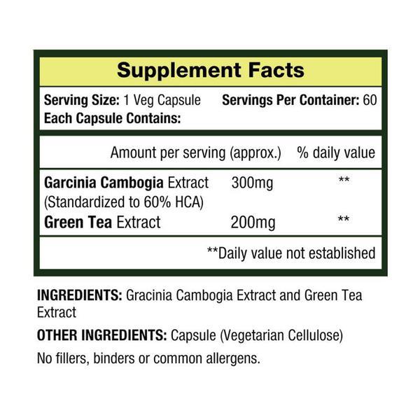 MuscleXP Garcinia Green Tea Lean Vital Veg Capsules 60's