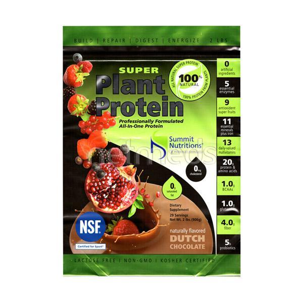 Summit Nutrition Super Plant Protein Powder - Dutch Chocolate 2 lb