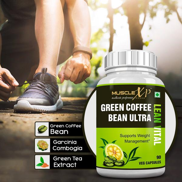 MuscleXP Green Coffee Bean Ultra Lean Vital Veg Capsules 90's