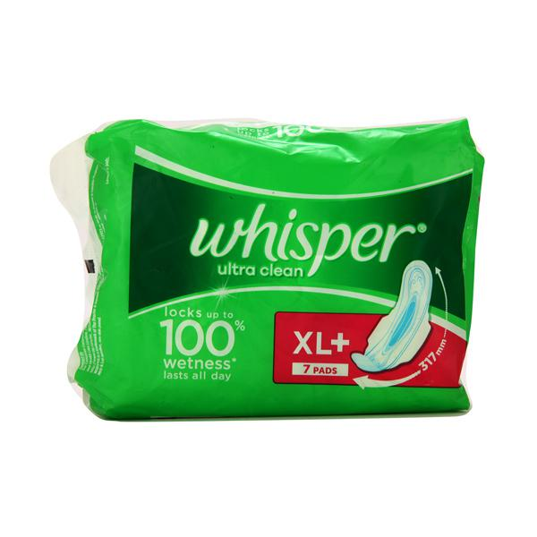 Whisper Ultra Clean (XL Plus) Sanitary Pad 7's