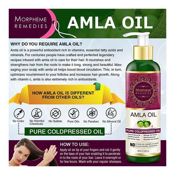 Oriental Botanics Bhringraj & Amla Cold pressed Oil 200 ml