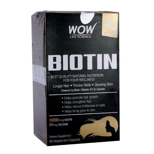 Wow Life Science Biotin Vegetarian Capsules 60's