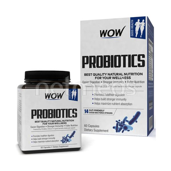 Wow Life Science Probiotics Capsules 60's