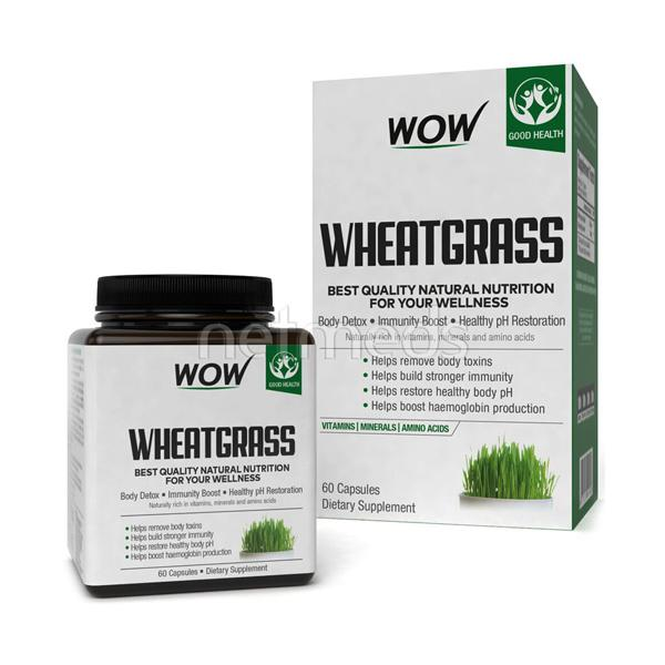 Wow Life Science Wheatgrass Capsules 60's